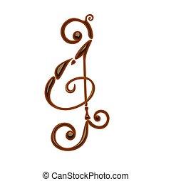 note, musique, chocolat