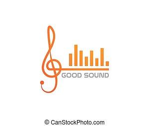 note, musique, icône