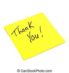 Note of Gratitude