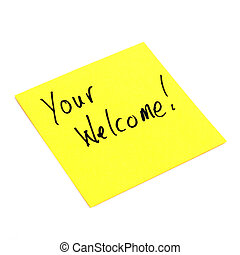 Note of Welcoming