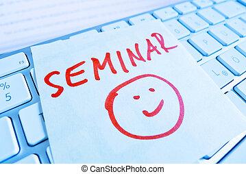 note on computer keyboard: seminar
