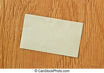 Note on ply wood background
