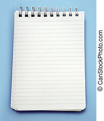 Note pad - An image of a lined note pad with spiral binding...