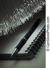Note pad and pen