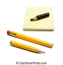 Note Pad and Pencils