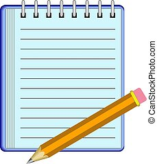 Note Pad - Note pad and pencil design.