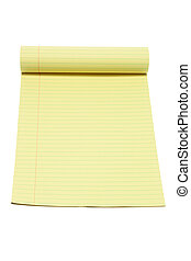 Note Pad on White Background