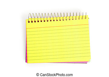 Note Pad with white background