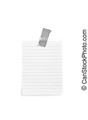 note papel, sticked, blanco