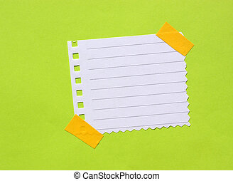 Close up of note paper for background
