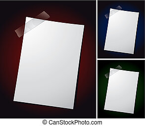Note Paper - Various vector note paper for text