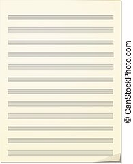 Note paper for musical notes