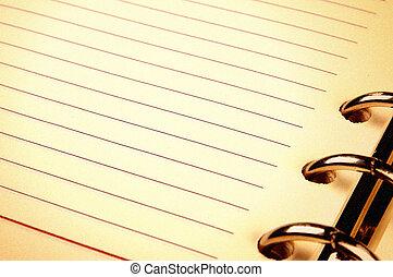 note paper in vintage look