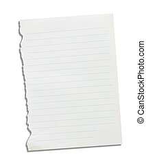 Note paper on a white background.