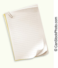 Note paper on gradient background