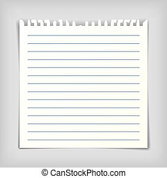 Note paper sheet with lines - Square note paper sheet with ...