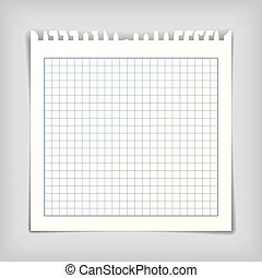 Note paper sheet with lines