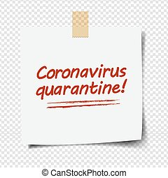Note Paper With Coronavirus Text Transparent Background