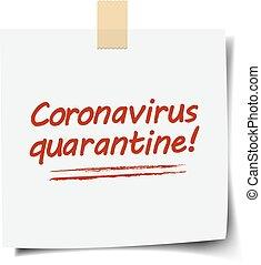 Note Paper With Coronavirus Text White Background