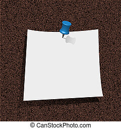 note paper with pin on cork board. vector illustration. Best choice