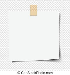Note Paper With Transparent Background