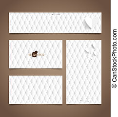 Note papers, ready for your message. Vector illustration.