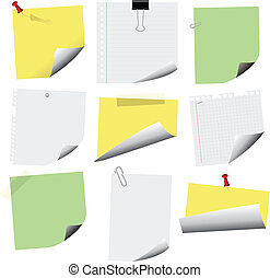 note papers - vector set of note papers