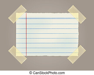 Note Papers with a sticky tape stuc