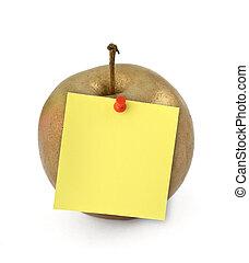 note, pomme dorée