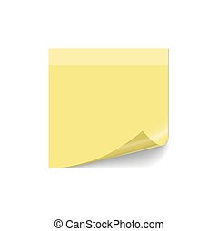 Note post vector. Curled paper post note