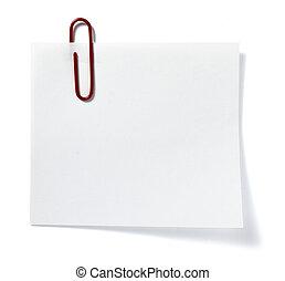 note, rappel, papier, bureau, business