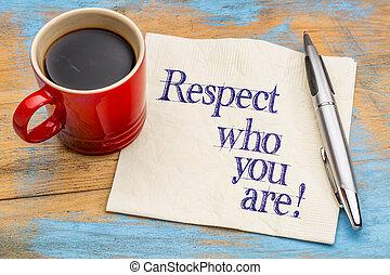 note, respect, vous, serviette, -
