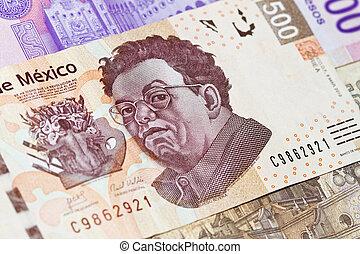 note, rivera, diego, 500, nouveau, mexicain