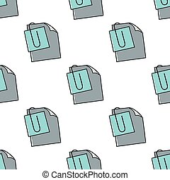 Note seamless pattern in cartoon style isolated on white background vector illustration