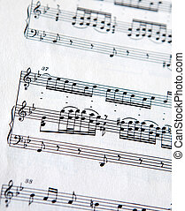 Note Texture Background - Musical Note background