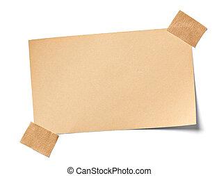note, vendange, papier, bureau, business