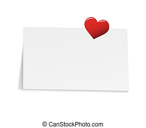 Note with Heart Pin