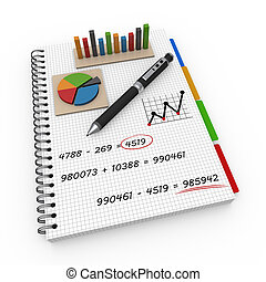 Notebook accounting concept