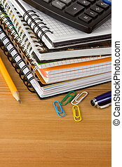 notebook and school accessories