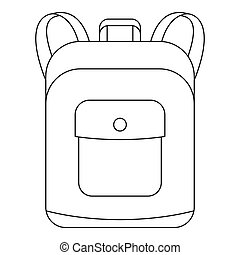 Notebook backpack icon, outline style