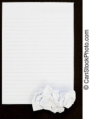 Notebook black background open view