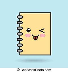 notebook character kawaii style