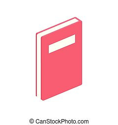 notebook diary document isolated icon