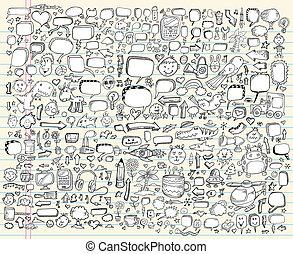 Notebook Doodle Sketch Design set - Notebook Doodle Sketch ...