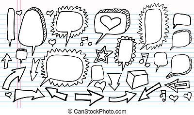 Notebook Doodle Sketch vector set