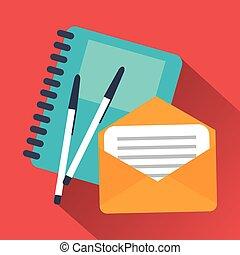 Notebook envelope and pen design