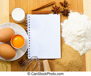 notebook for  baking recipes