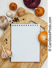 notebook for culinary note