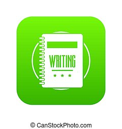 Notebook icon green