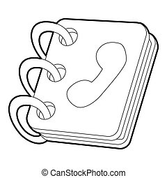 Notebook icon, outline style